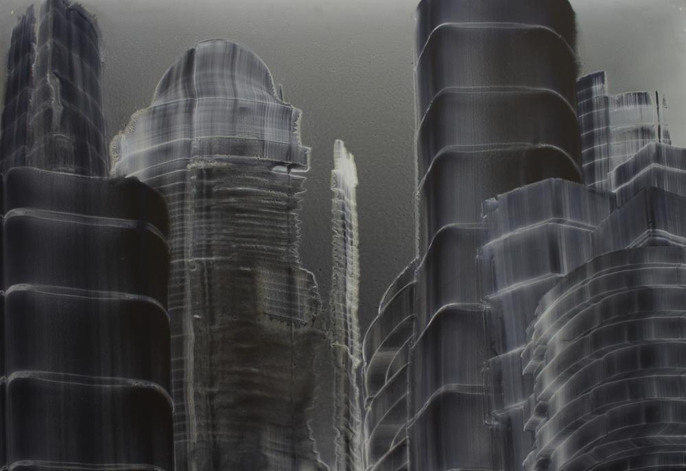 """Oil on masonite 33"""" x 48"""" (84cm x 122cm)  1999"""