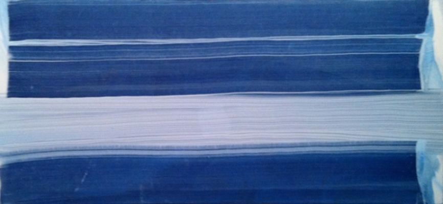 "Erased Painting No6 Oil on Linen 52"" X 24"" (137cm X 61cm)  2011"