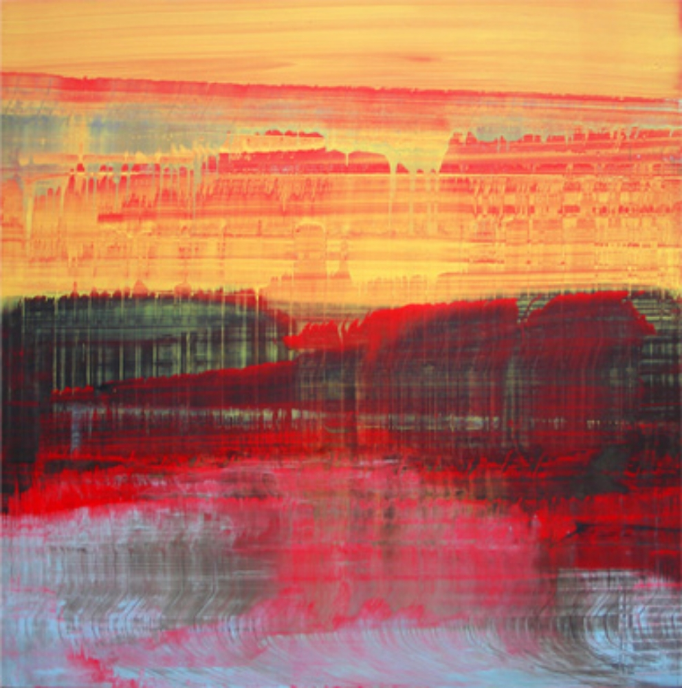 "Little Sunset, Oil on Linen 30"" X 30"" (76cm X 76cm)  2010"