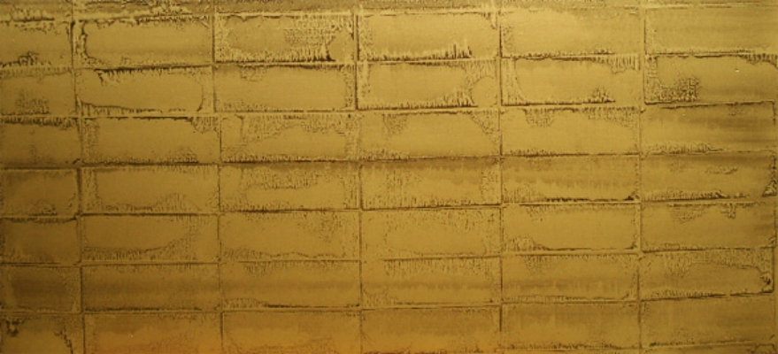 "Gold Bricks 1, Oil and gold powder on linen, 52"" X 24"" (137cm X 61cm)  2009"