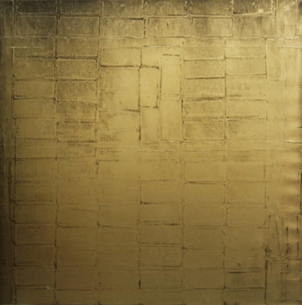 "Gold Bricks 4., Oil and gold dust on linen, 48"" X 48"" (122cm X 122cm)  2010"