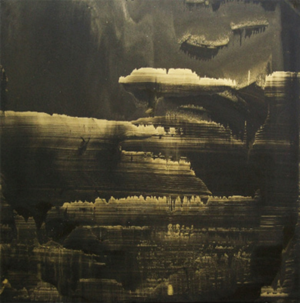 "Gold Landscape, Oil and gold dust on canvas, 44"" X 44"" (112cm X 112cm)  2010"