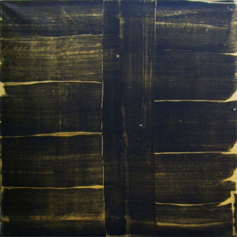 "Black Gold, Oil and gold dust on canvas, 54"" X 54"" (137cm X 137cm)  2010"