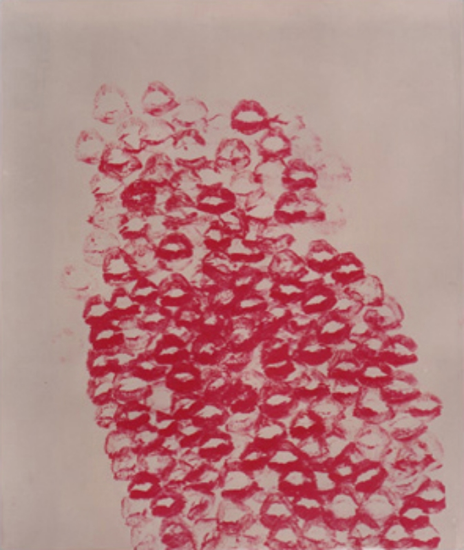 "Kisses on Photographic Paper 24"" X 30"" (60cm X 77cm)   1992"