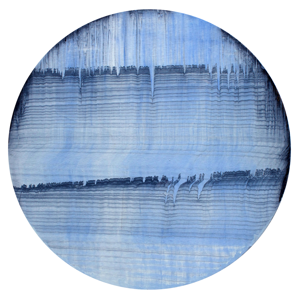 "Oil on canvas, 20"" diameter (51cm), 2014"