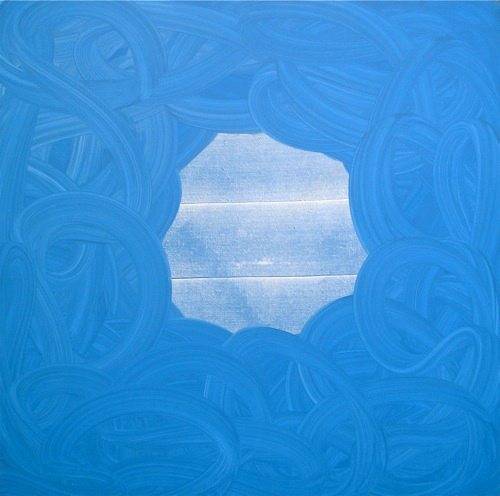 "It's all in front of you ,  Oil on linen, 56""x56"" (142cm x 142cm), 2011"