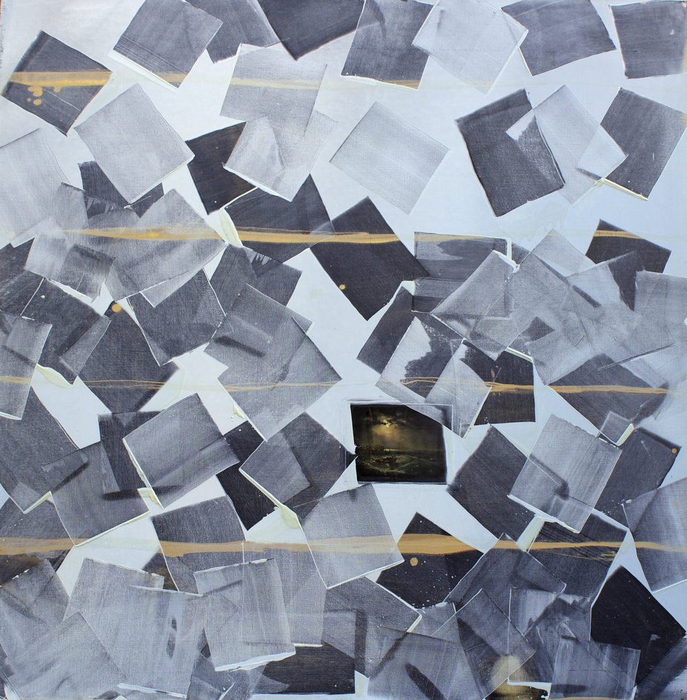"Oil on linen, 56""x56"" (142cm x 142cm), 2013"
