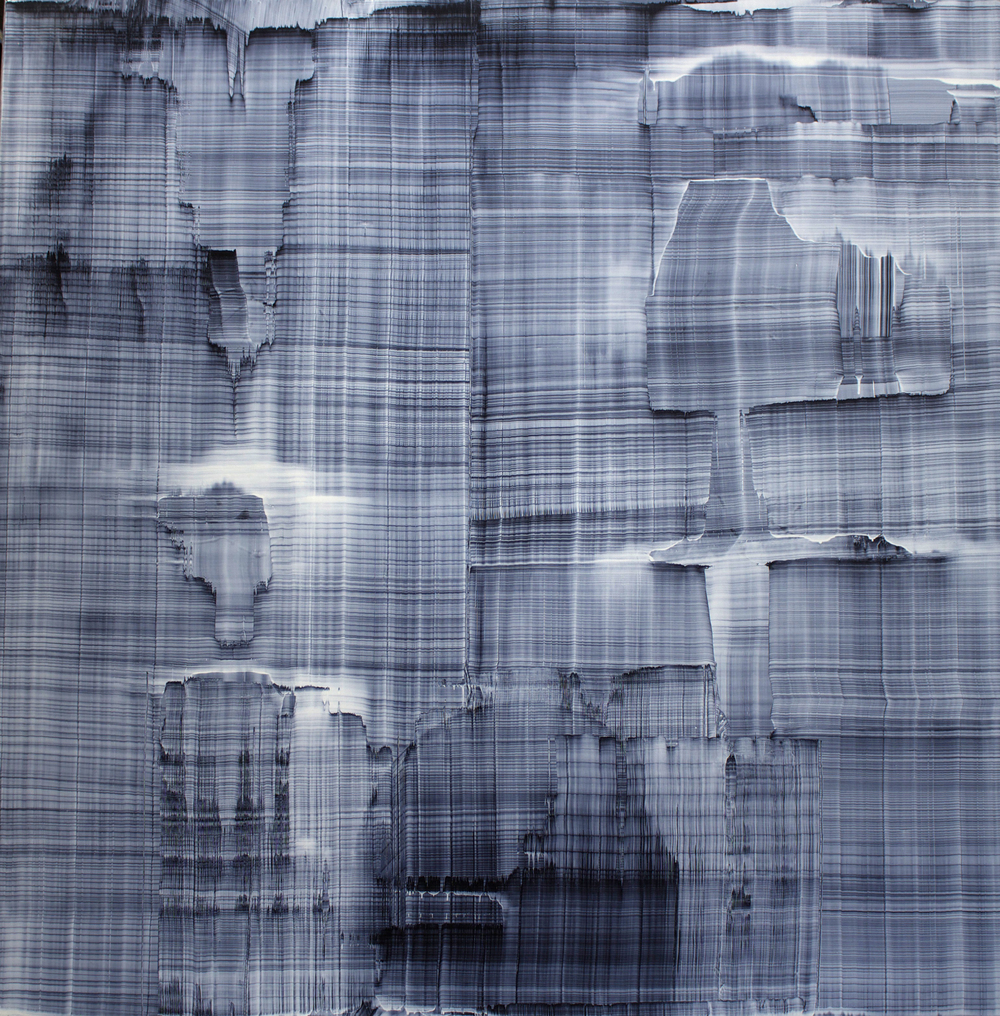 "Oil on linen, 58""x58"" (147cm x 147cm), 2013"