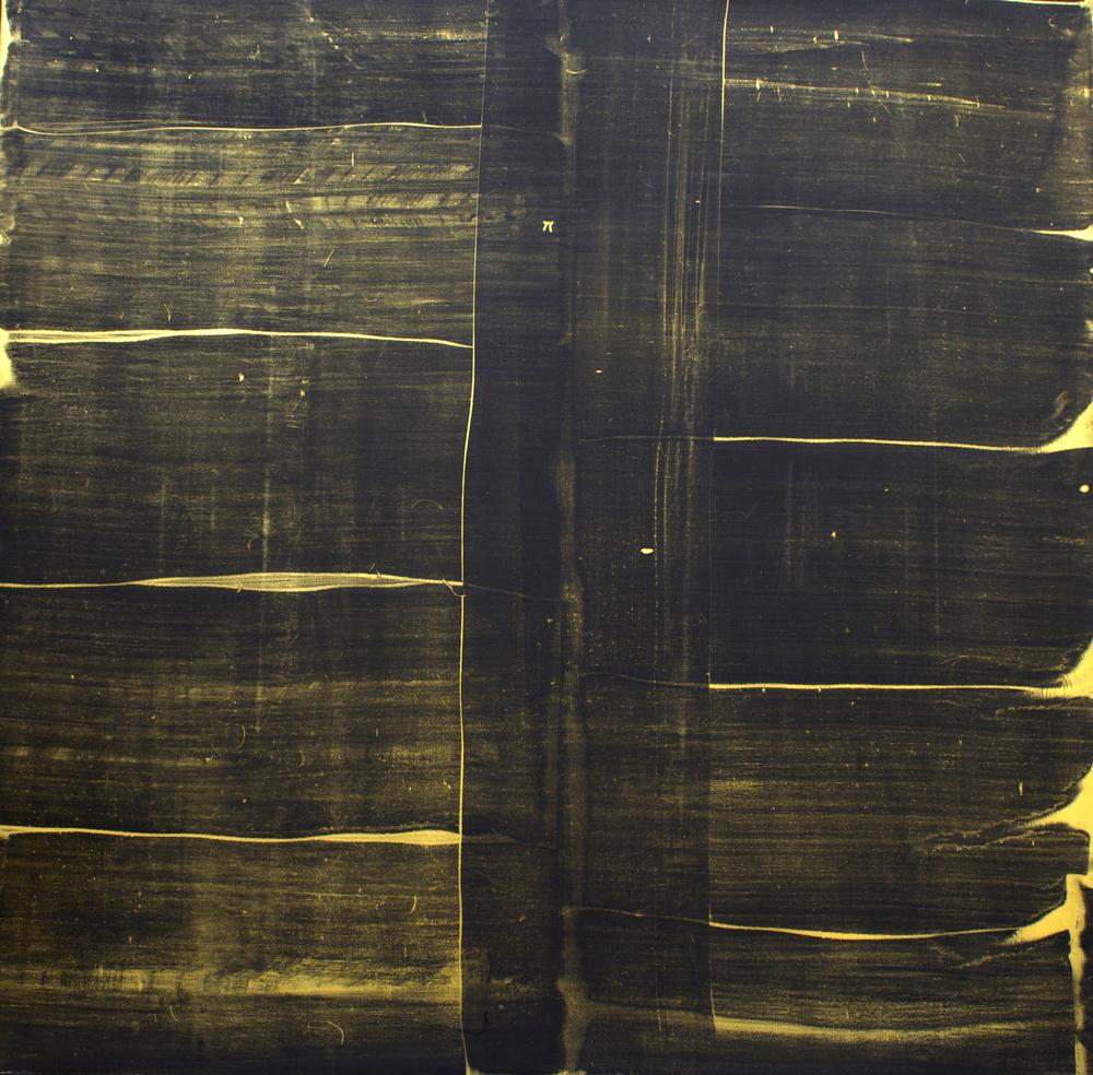 "Oil and gold dust on canvas, 54"" x 54"" (137cm x 137cm), 2011"