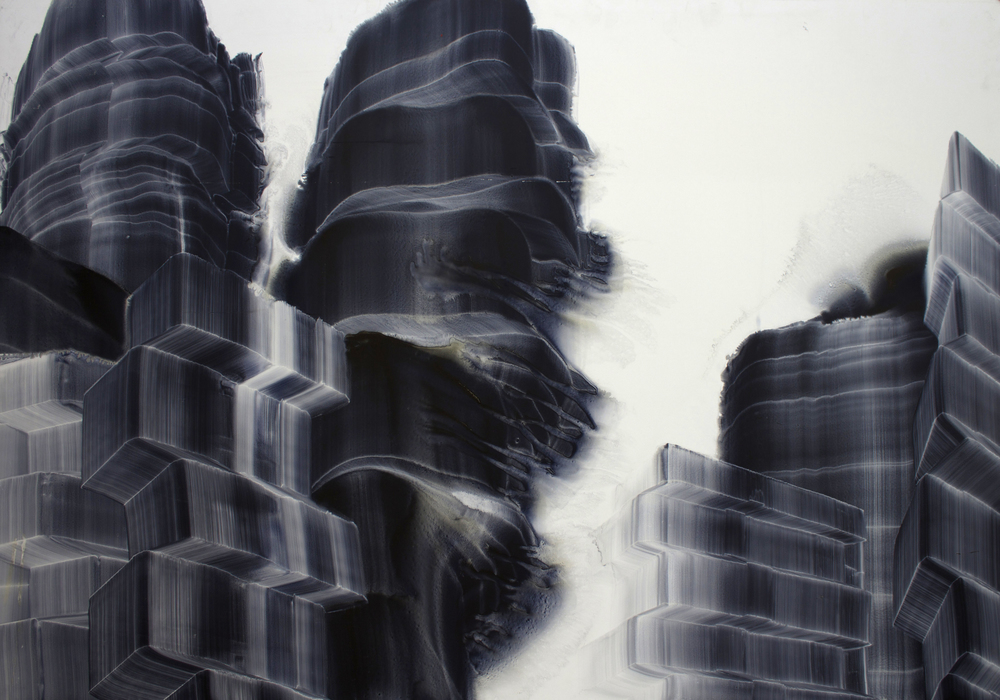 "Oil on masonite, 33"" x 48"" (84cm x 122cm), 1999"