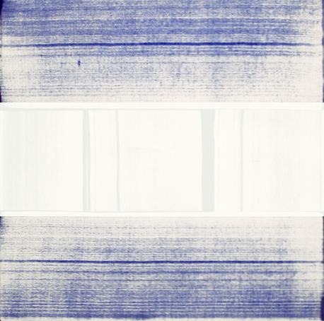 """Erased Blue 40""""x40"""" ( 100cm x 100cm )  2014"""