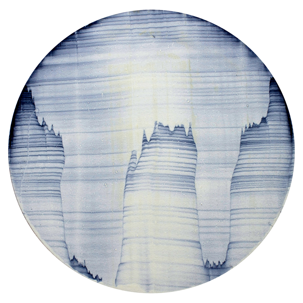 "Oil on canvas, 20"" diameter (51cm)  2014"