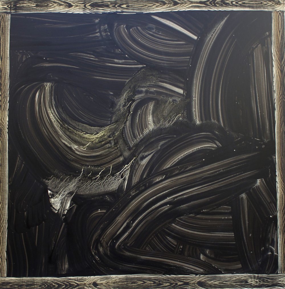 "Oil on Linen, 54"" x 54"" (137cm x 137cm)    2010"