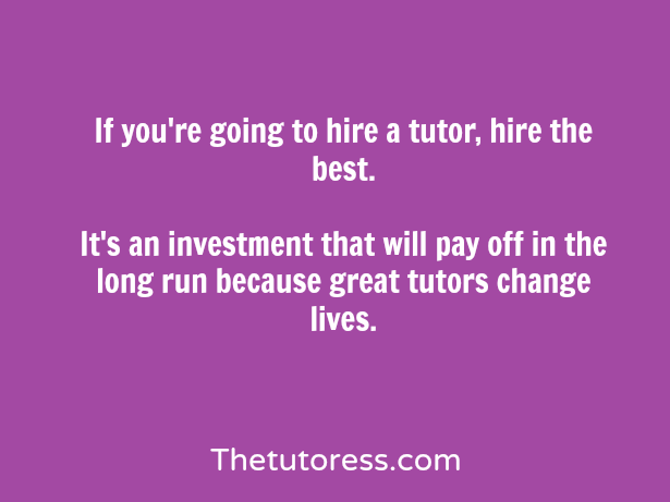 hiring a cheap tutor