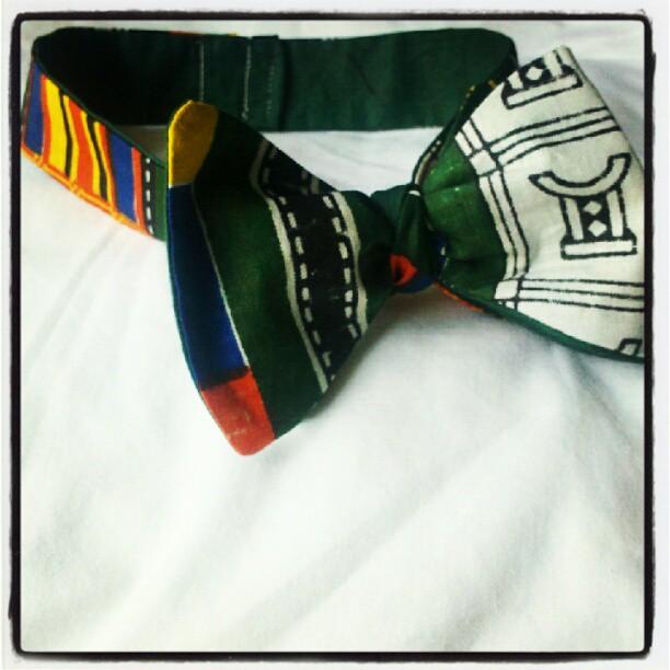 Kente' cloth bow (Taken with  Instagram )