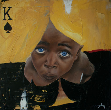 (SOLD) King of spades