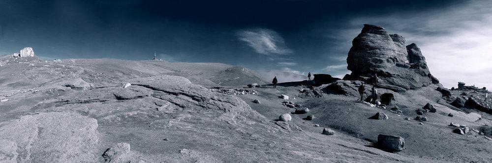 Carpathian Sphinx Panorama by Sarahorsomeone
