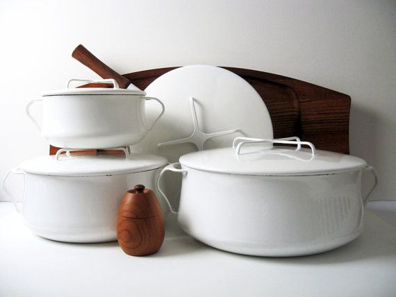 A set of  DANSK Kobenstyle Cookware  for winter cooking.
