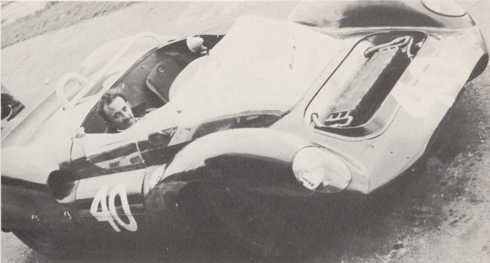 Errmano Cuoghi in CM/5/64 during the car's time at Ford Advanced Vehicles where it served as Roy Salvadori's car.