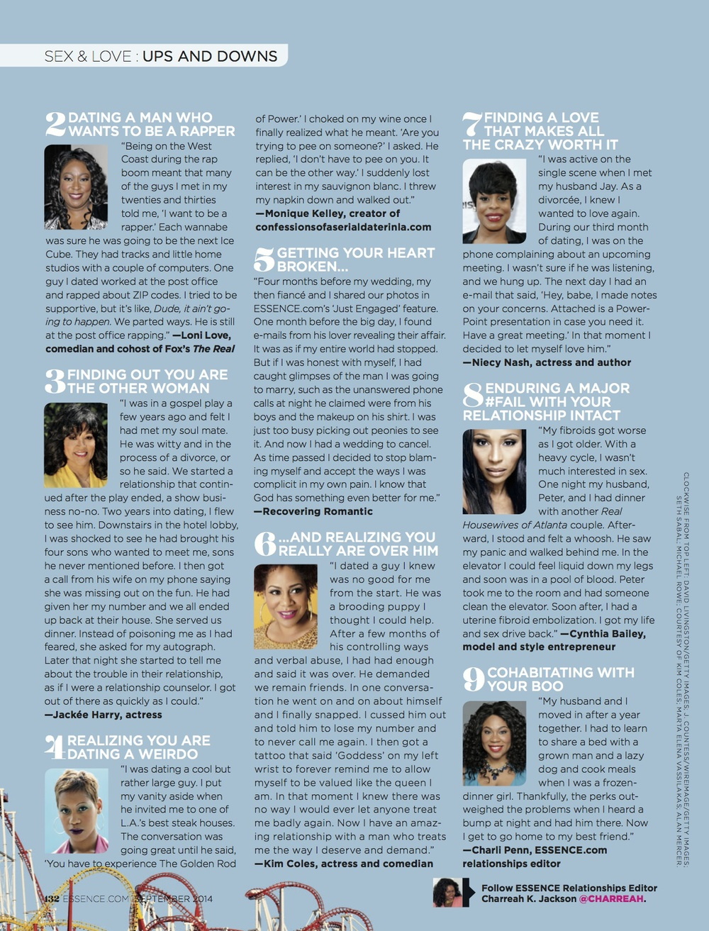 The Relationship Roller Coaster, ESSENCE Sep. 2014