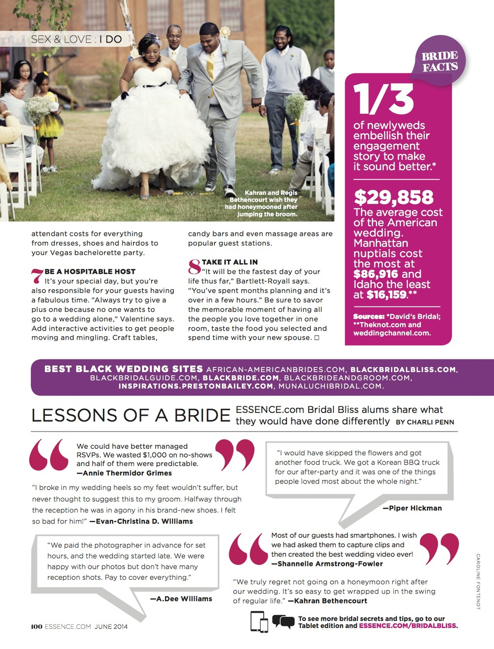 Lessons From A Bride, ESSENCE Feb. 2014