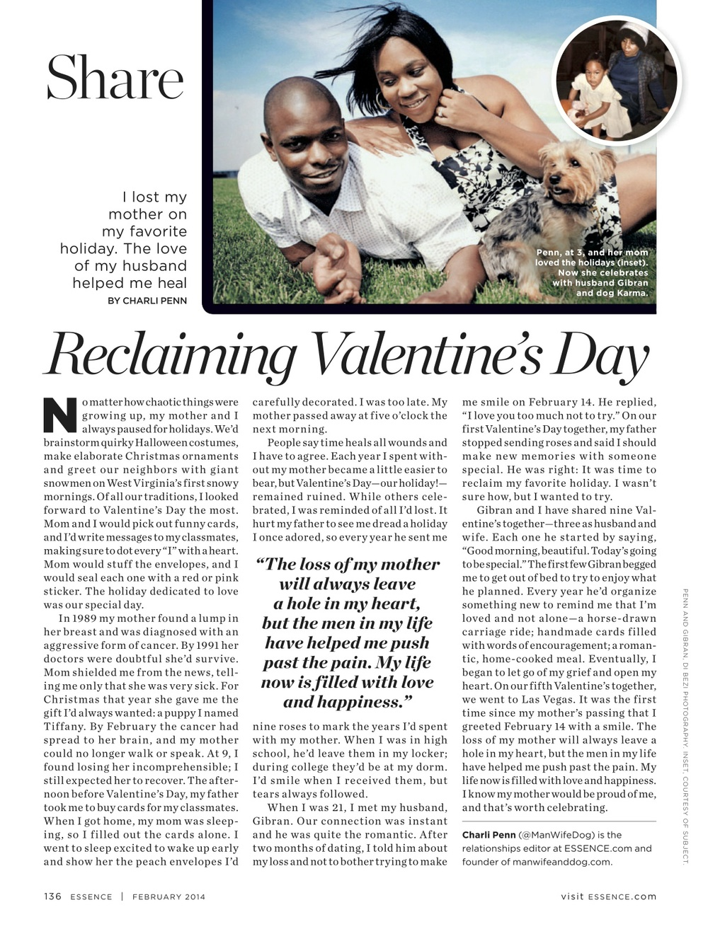 Reclaiming Valentine's Day, ESSENCE Feb. 2014