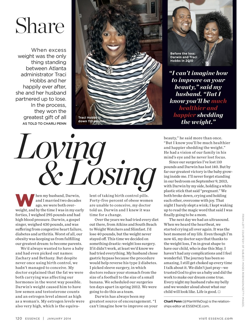 Loving & Losing, ESSENCE Jan. 2014
