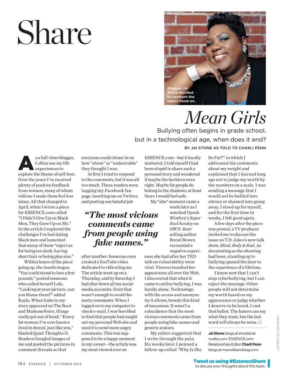 Mean Girls, ESSENCE Oct. 2013