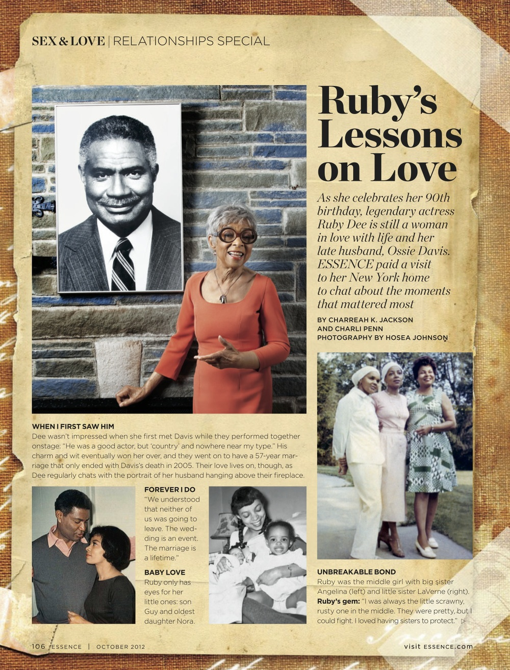 Ruby's Lessons On Love, ESSENCE Oct. 2012