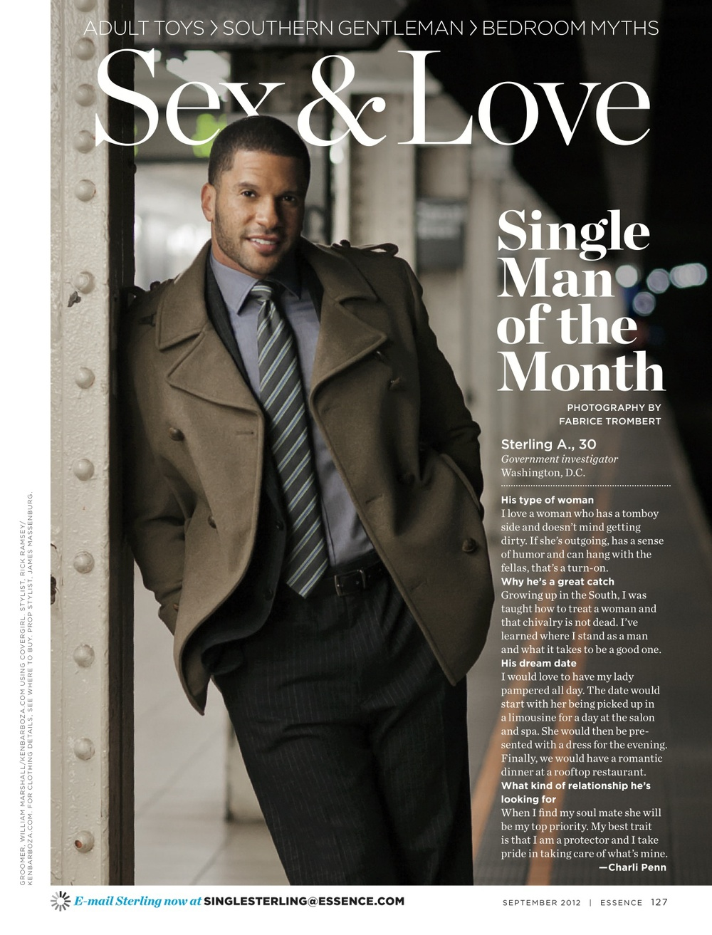 Single Man Of the Month Sterling A, ESSENCE Sept. 2012