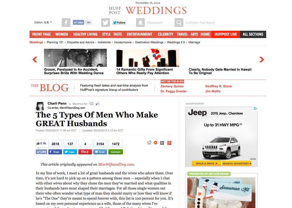 The 5 Types Of Men Who Make Great Husbands, The Huffington Post