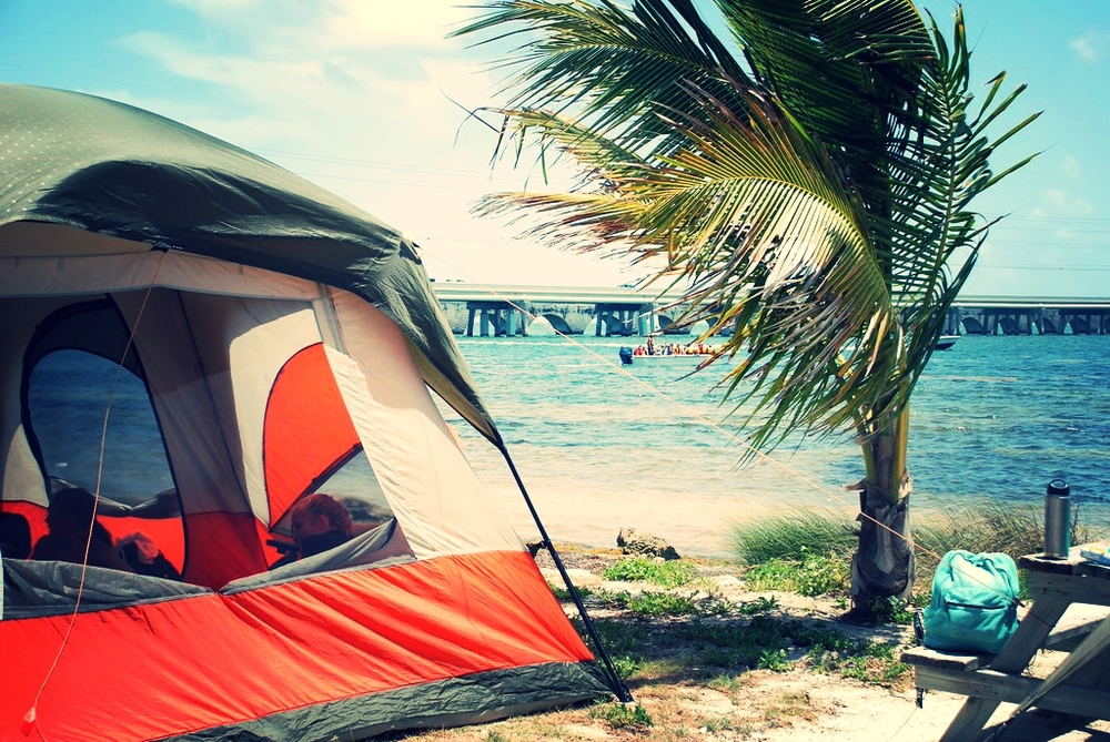 Camping in paradise at the Big Pine Key Fishing Lodge and Campground.