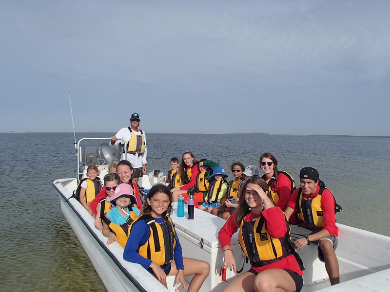 Campers on their way to perform ocean carols along Sanibel's Canals.
