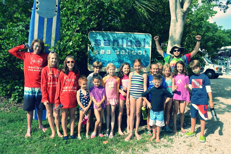 Campers prepare for the weekly surf paddling competition!