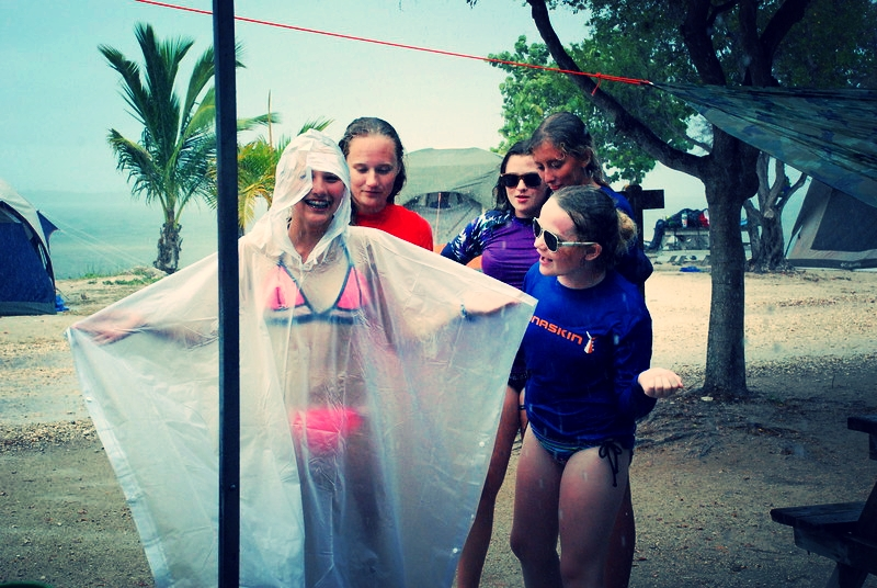 """Who knew rain could provide such a bonding experience?"" said counselor Elly Rundqwist."