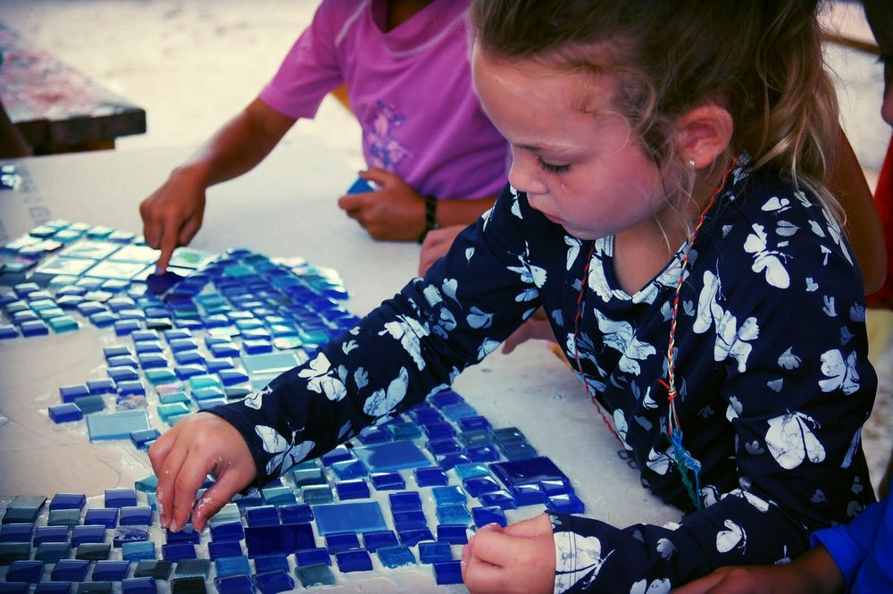 Mosaics are a favorite art form among Sanibel Sea School participants.