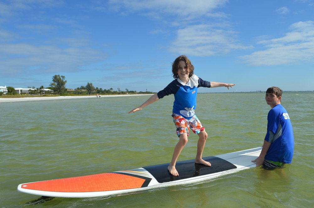 Campers practiced their surfing skills during Polynesian Ocean Traditions Week.