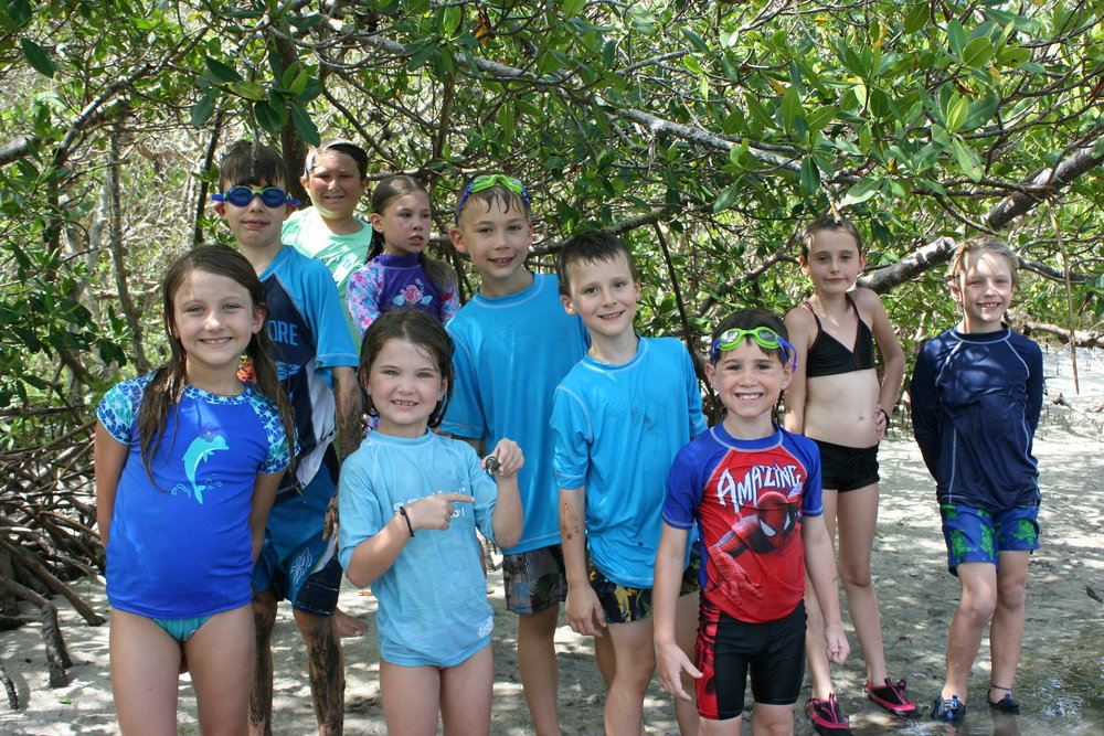 Mud walks at Bunche Beach are always a favorite activity among campers.