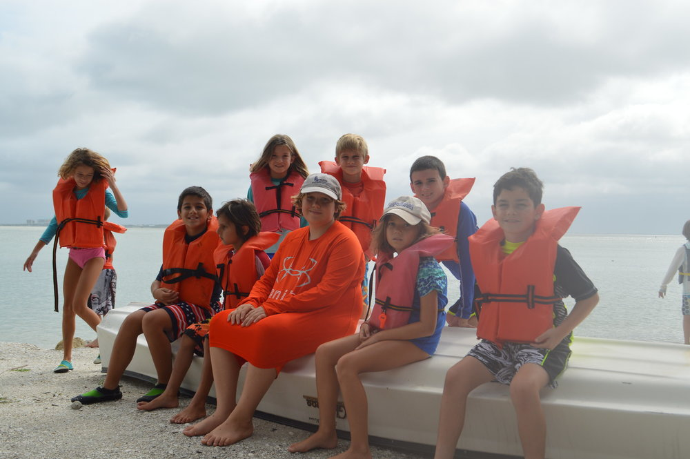 Manatee Week participants canoed in search of the slow-moving marine mammals.