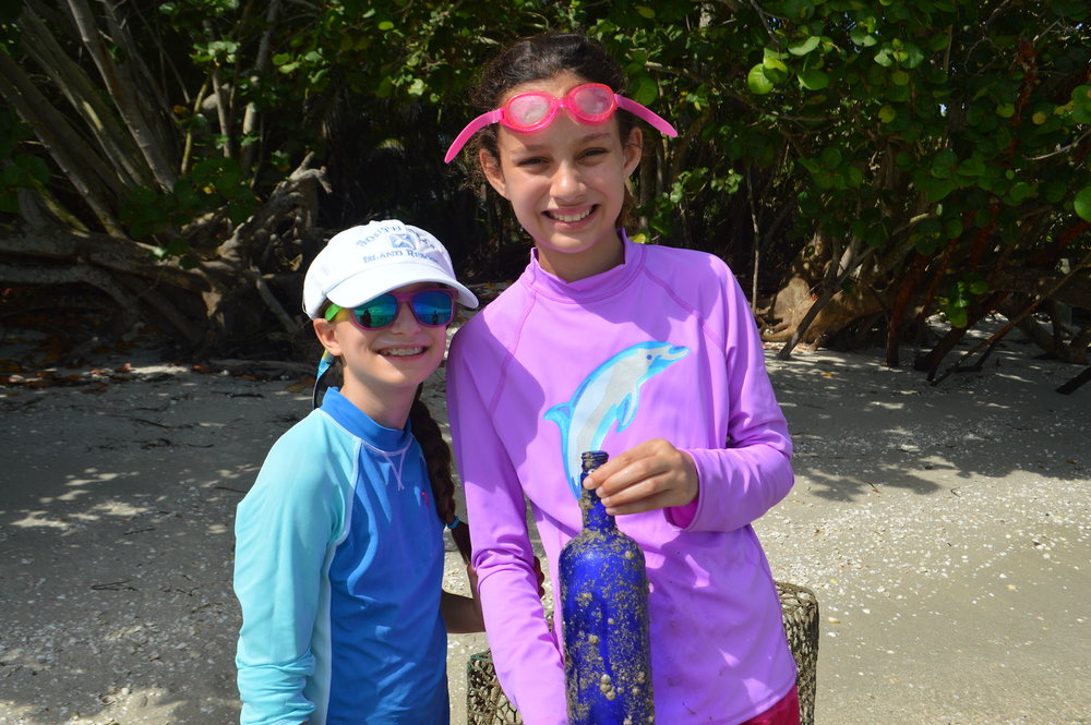 Sanibel Sea School campers sunk bottles to attract their own barnacle settlements during Stuck On You, Barnacle Week.