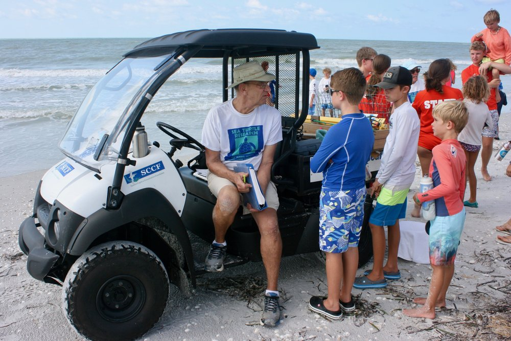 SCCF's Sea Turtle Program volunteers shared their sea turtle expertise.