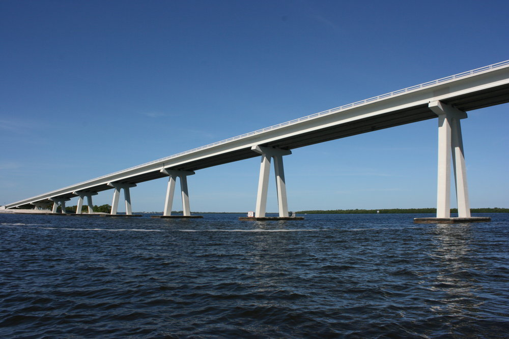 The trip ended with striking views of the Sanibel Causeway.