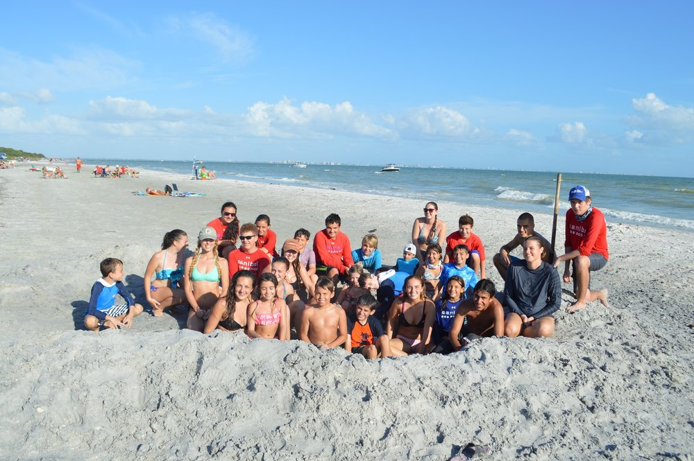 Winter campers at Sanibel Sea School enjoy days full of fun and learning at the beach.