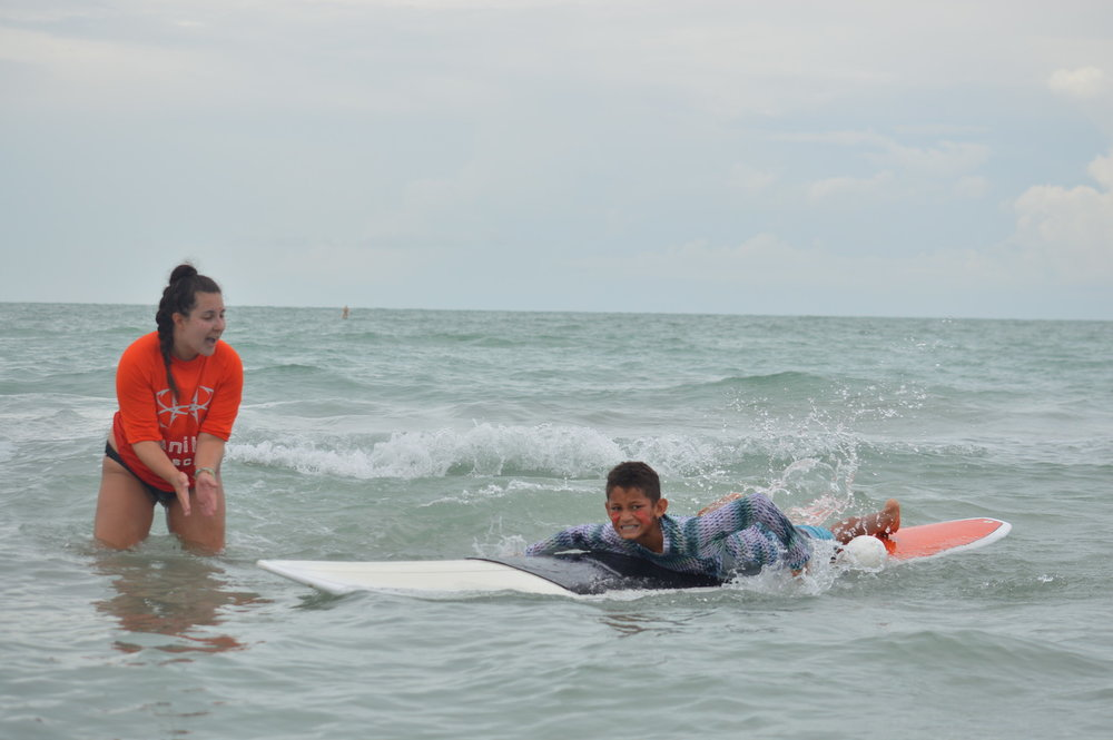 Kids can learn to surf at Sanibel Sea School.