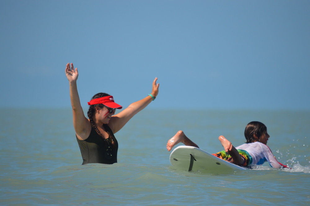 Surfing is a popular activity among Sanibel Sea School campers.