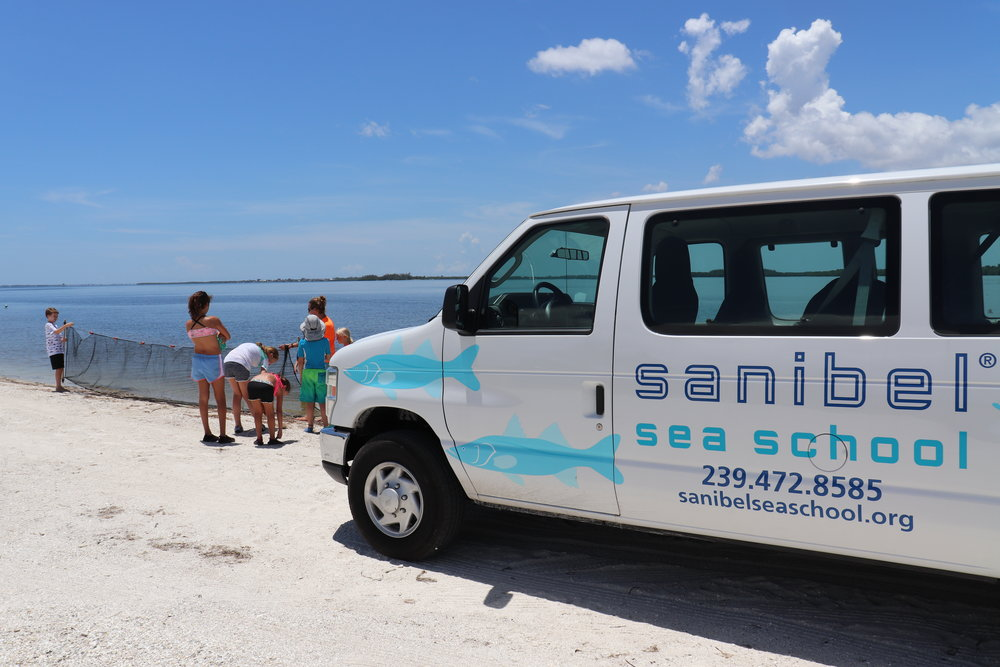 Sanibel Sea School's vehicles are often parked in public areas where the need for an AED could arise.