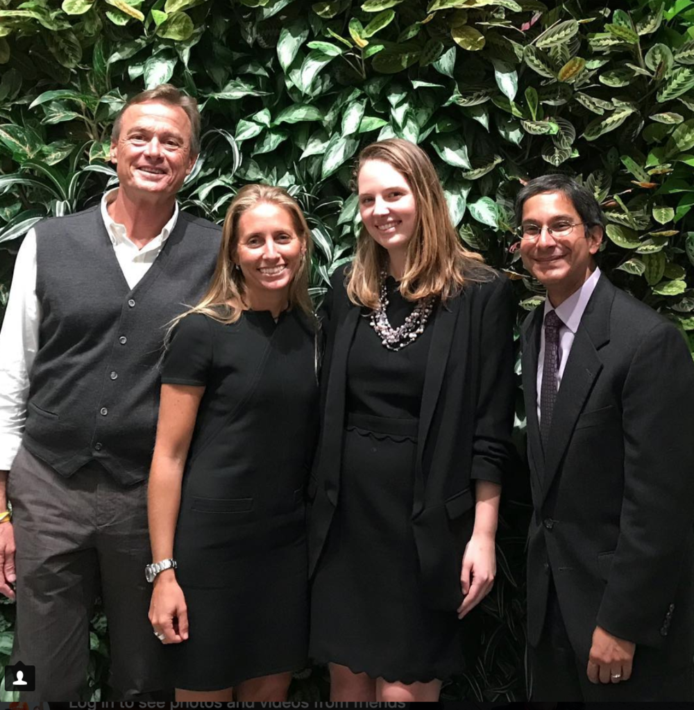 L to R: Dr. Bruce Neill, Gaelin Rosenwaks, Maddie Hickey, and Nik Khakee at an Everglades Foundation event in New York.