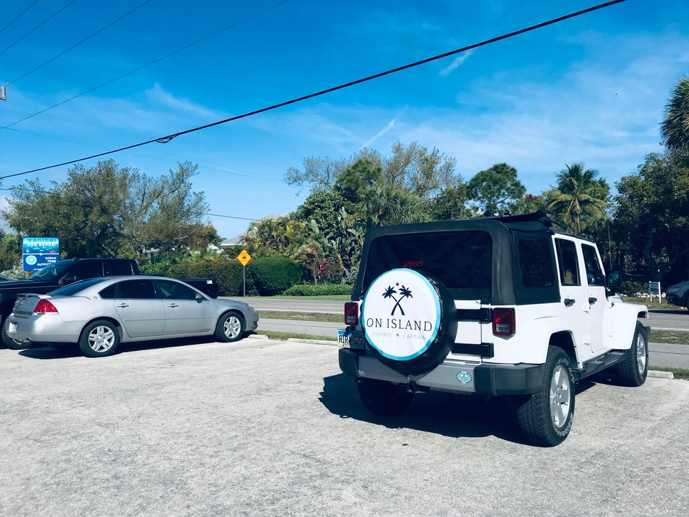 The On Island logo can often be spotted around the islands.