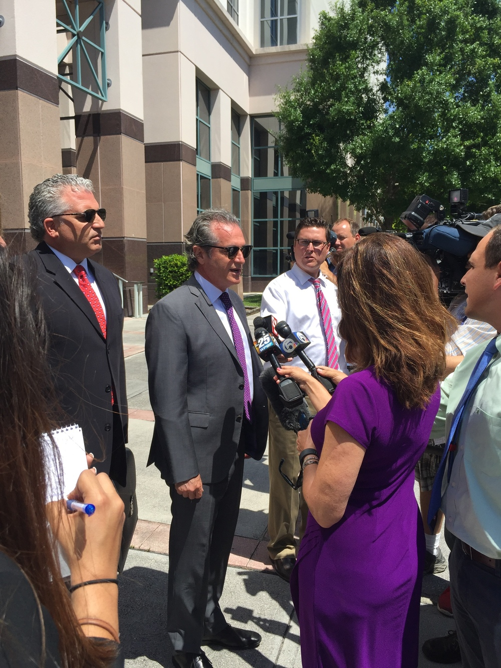 Guy Rubin, Cohen's attorney, speaks to reporters outside the Palm Beach County Courthouse on April 25, 2016.
