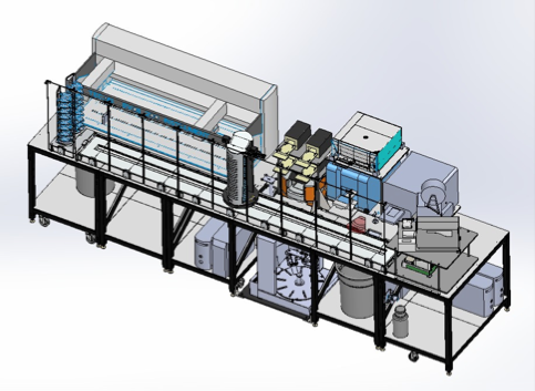 A CAD drawing of the automation platform that will be installed.